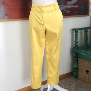 New York & Company crop in bright yellow.